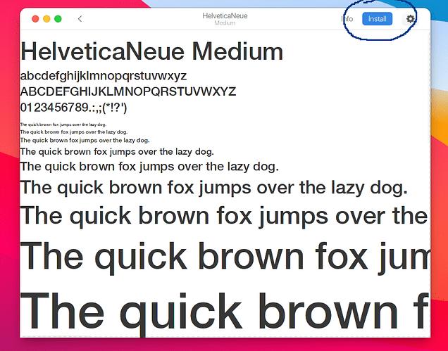 Install a font