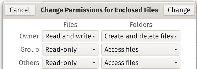 Change For Enclosed Files