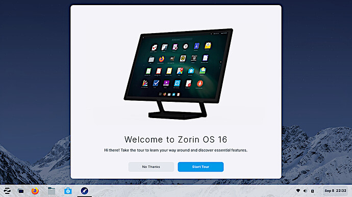Zorin OS 16 PRO Welcome