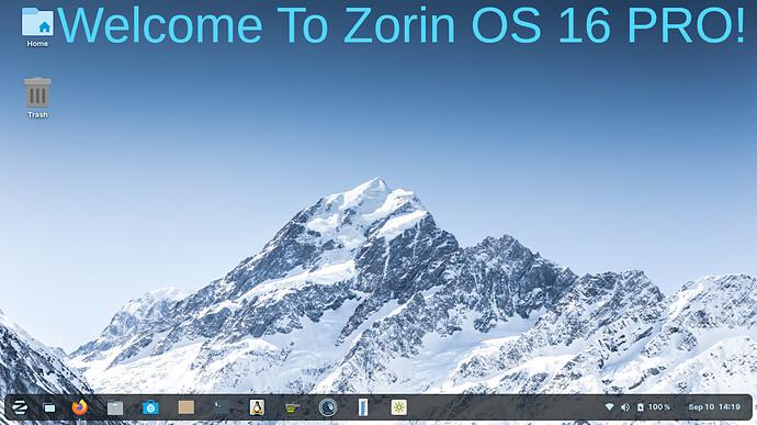 Welcom To Zorin OS