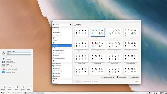 KDE Zorin 16