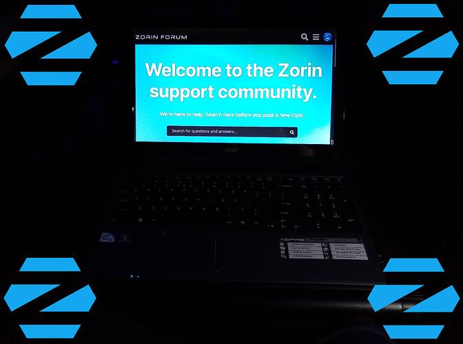 Zorin OS 16 PRO Dark Mode Activated