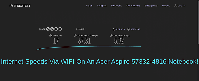 Acer Internet Speed