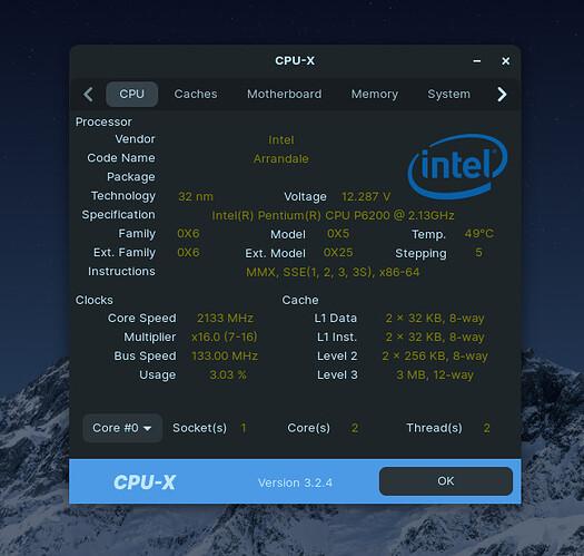 Zorin OS 16 PRO CPU INFO