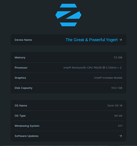 Zorin OS 16 PRO About