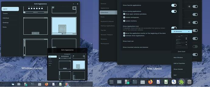 windows vs mac layout