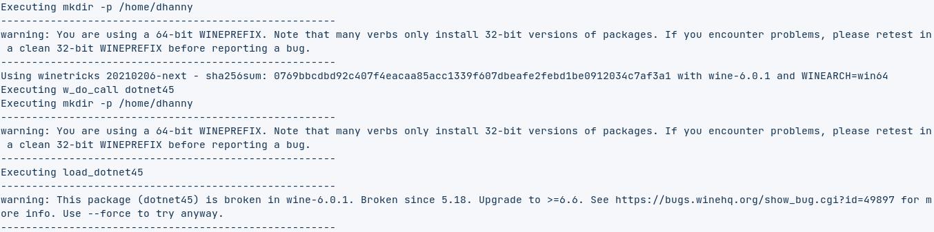 winetricks dotnet45 broken