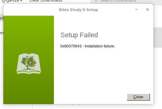 Installation failure 19.3.21